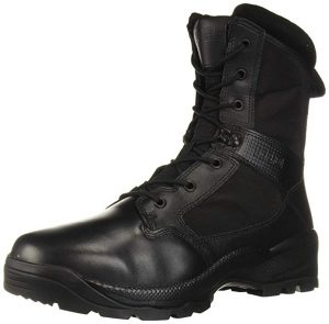 5.11 Tactical Mens ATAC 2.0 Leather Black Rucking Side Zip Boots