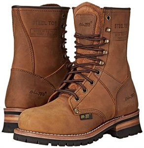 Adtec Women's Steel Toe Logger Work Boots