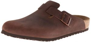 Birkenstock Unisex Boston Soft Footbed Leather Clog for Hallux Rigidus and Hallux Limitus