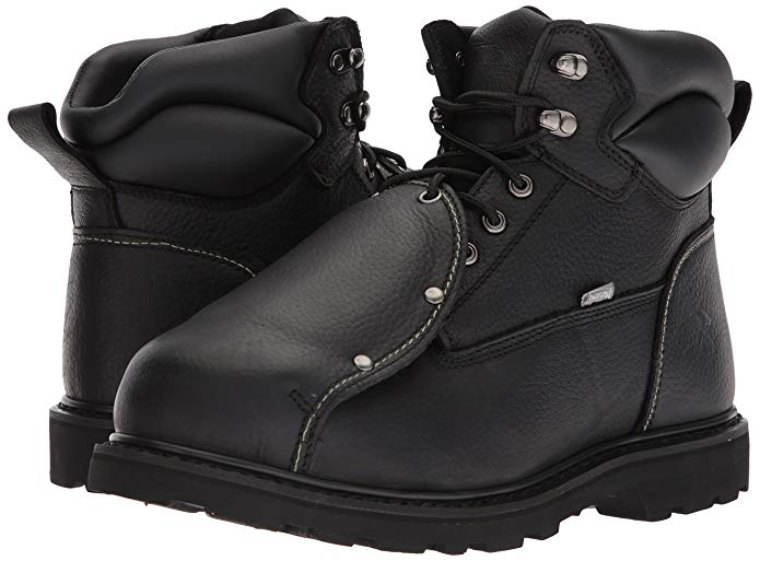 Iron Age Ground Breaker Work Boots for Asphalt Paving.