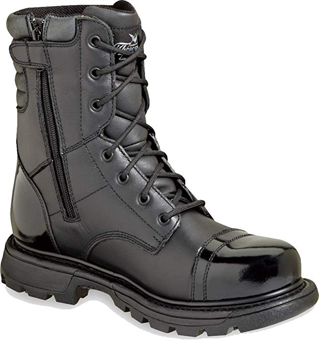 "Thorogood Men's 8"" Side Zip Gen-flex Jump Boot for Firefighters"