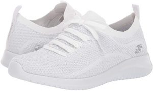 Stylish Skechers Women's Ultra Flex Salutations Sneaker for feet problems.