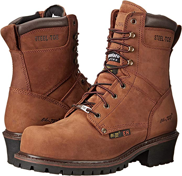 AdTec Steel Toe Logger Boots for Men are the most affordable boots on the market.