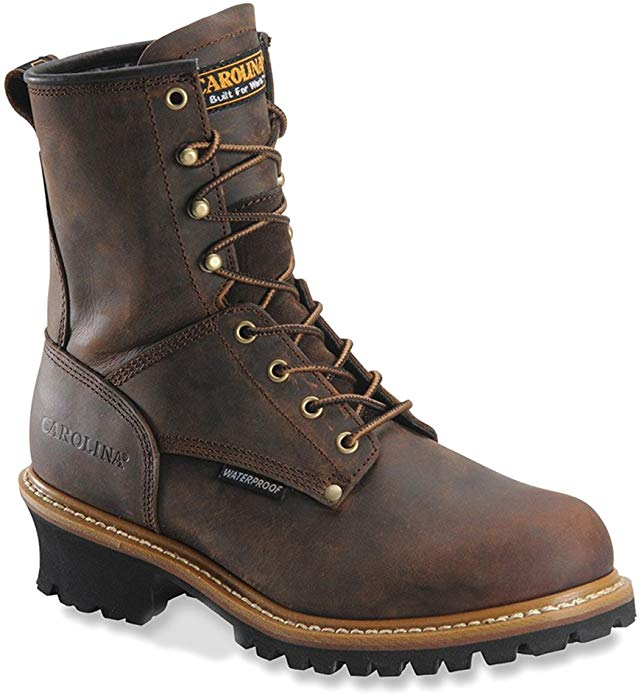 Men's Carolina Waterproof Logger Boots have it all for the best working experience.