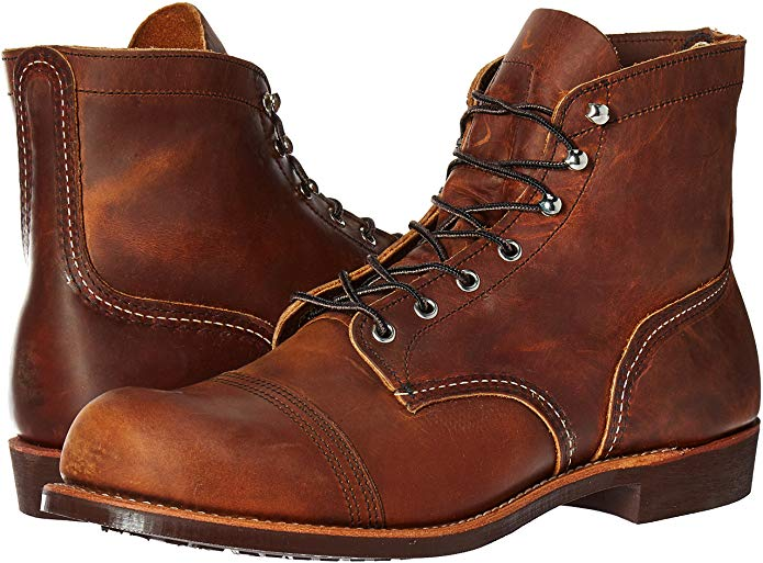 Red Wing Men's Iron Ranger Logger Boot is proudly made in the US.