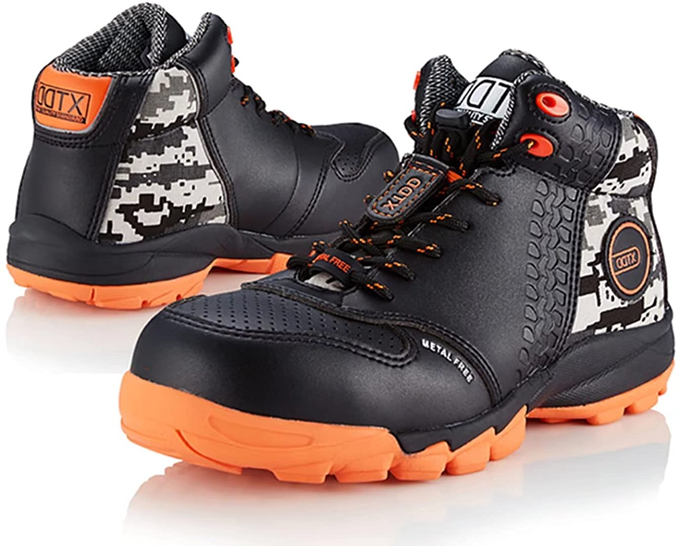 DDTX Men's Lightweight Work Boots have anti-static features for your protection.