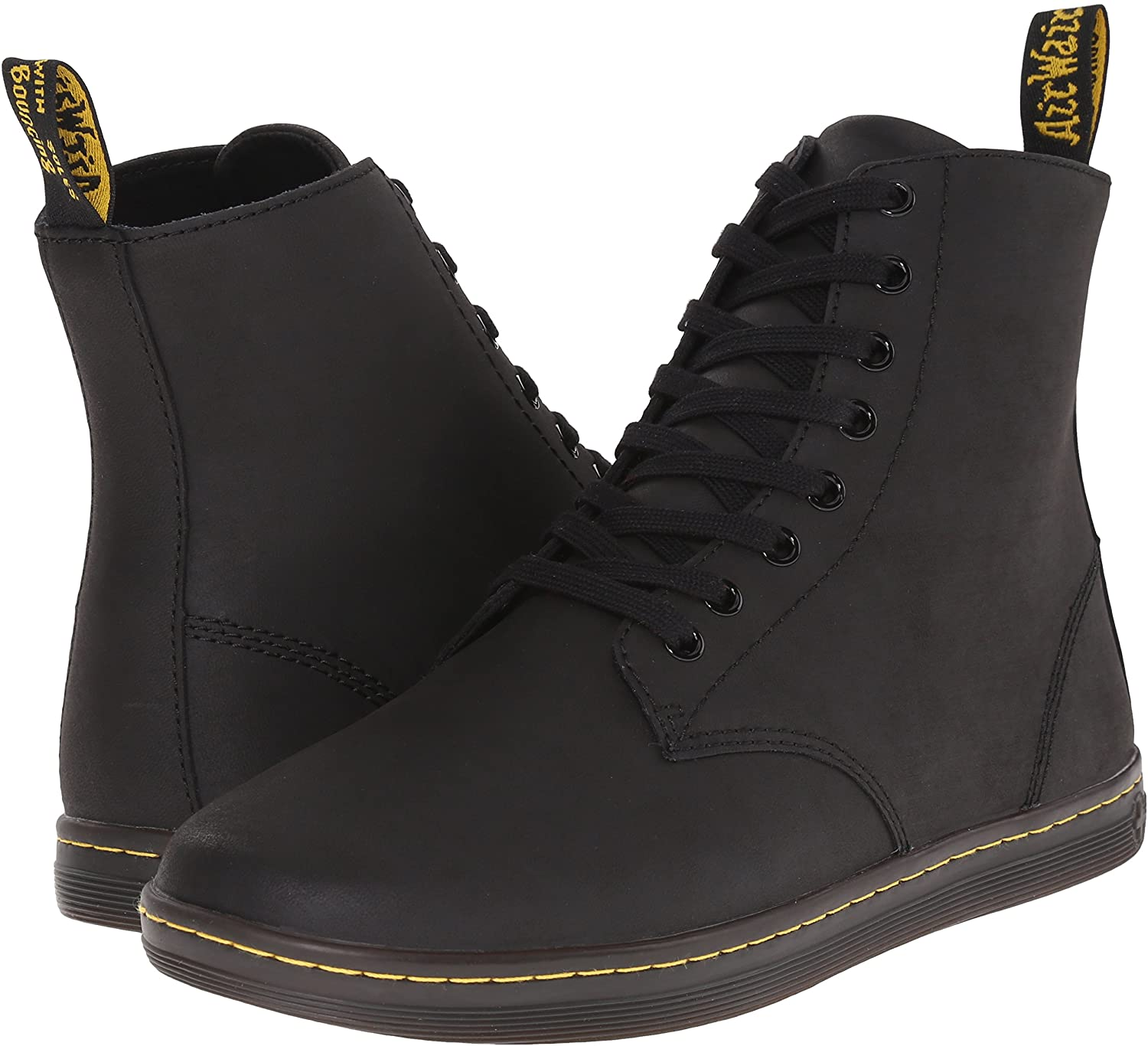 Dr. Martens Men's Tobias Minimalist Boots with flat sole.