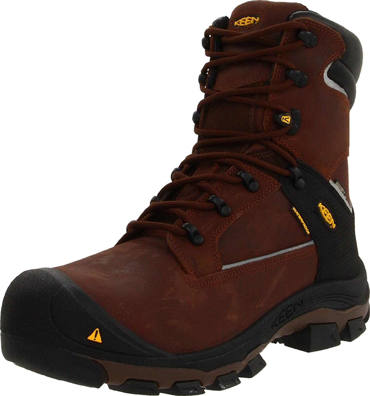 KEEN Utility Men's Portland Work Boots will protect your ffet from almost any hazards.