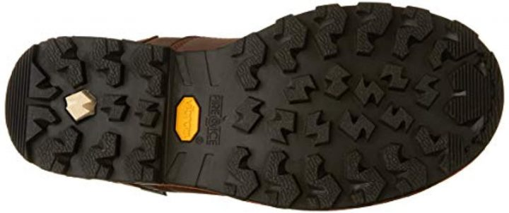 Outsole of TImberland PRO Men's Boondock electrician boots.