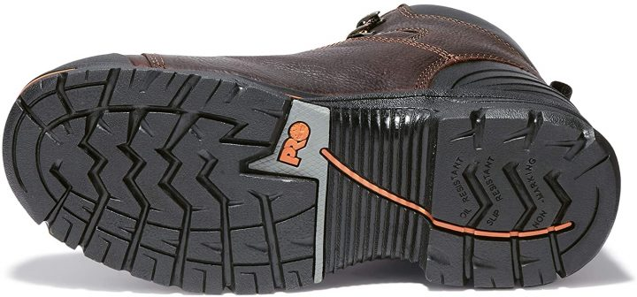 Outsole of Timberland PRO Men's Endurance PR Work Boots.