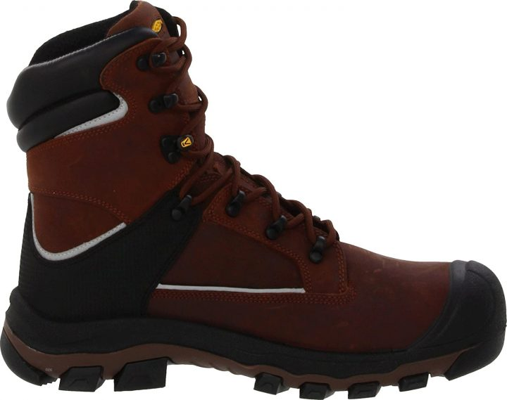 Side view of KEEN Utility Men's Portland Puncture Resistant Aluminum Toe Work Boots.