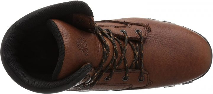 Upper view of Rocky Men's Rkk0190 Construction Boots for Electricians.