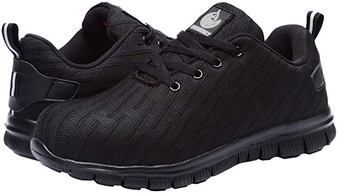 DYKHMILY Steel Toe Work Shoes for Women and Men Slip Resistant