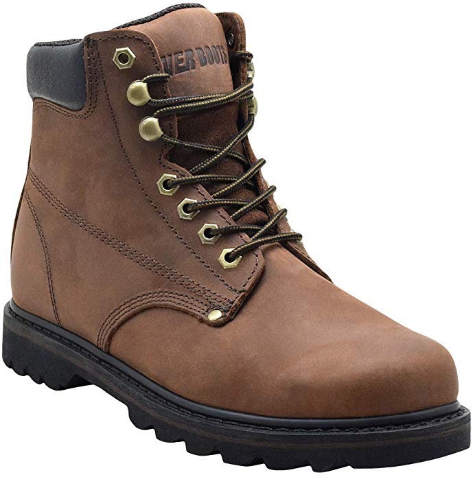 EVER BOOTS Soft Toe Oil Full Grain Leather Insulated Work Boots