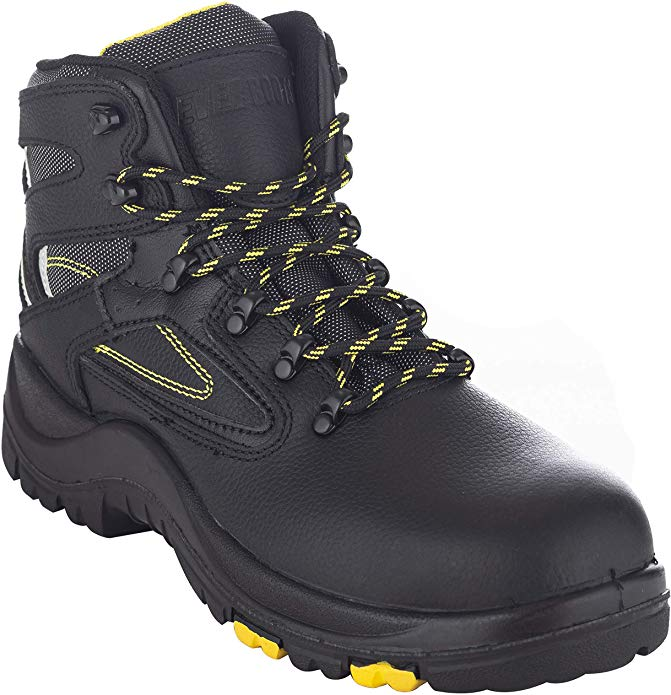 EVER BOOTS Steel Toe Industrial Work Boots Electrical Hazard Protection