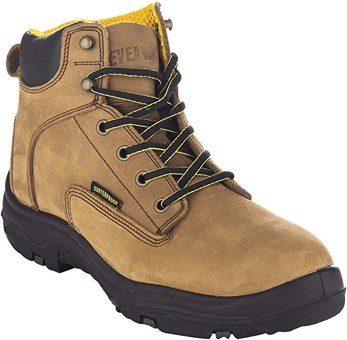 EVER BOOTS Ultra Dry Leather Waterproof Insulated Work Boots for Roofing