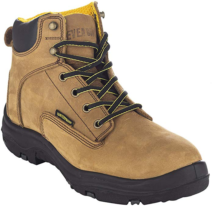 EVER BOOTS Ultra Dry Men's Premium Leather Waterproof Work Boots for Plantar Fasciitis