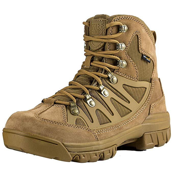FREE SOLDIER Outdoor Mens Rucking Tactical Military Combat Boots