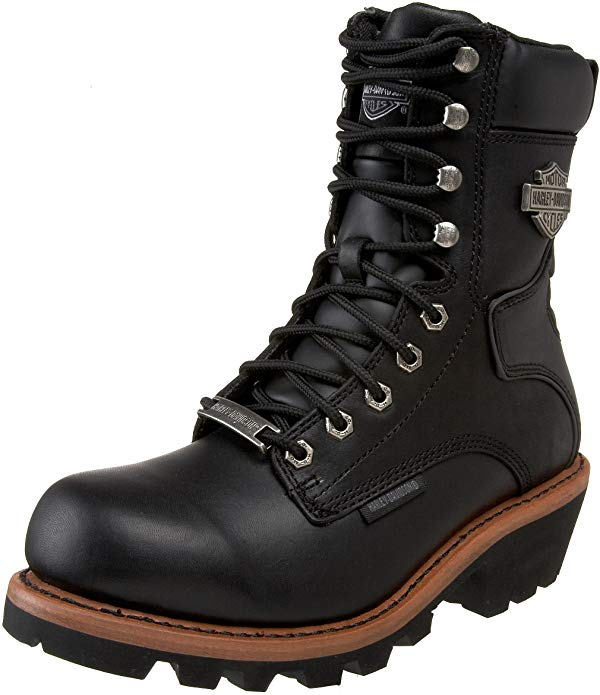 Harley-Davidson logger boots have vibram outsole and are perfect for tough jobs.