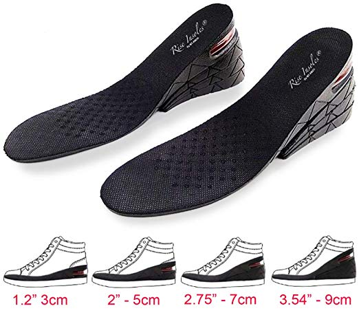 Height Increase Insoles, 4-Layer Orthotic Heel Shoe Lift kit