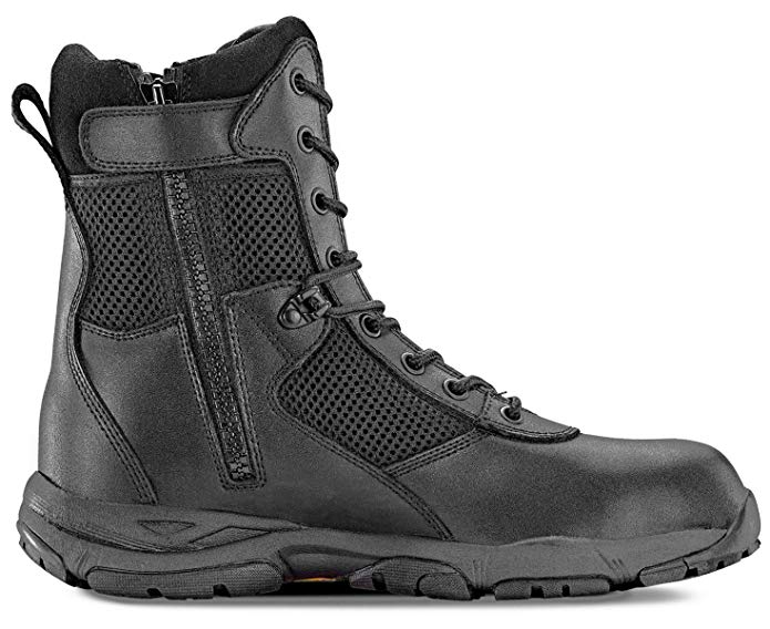 Maelstrom Mens LANDSHIP Military Tactical Duty Work Boot with Zipper