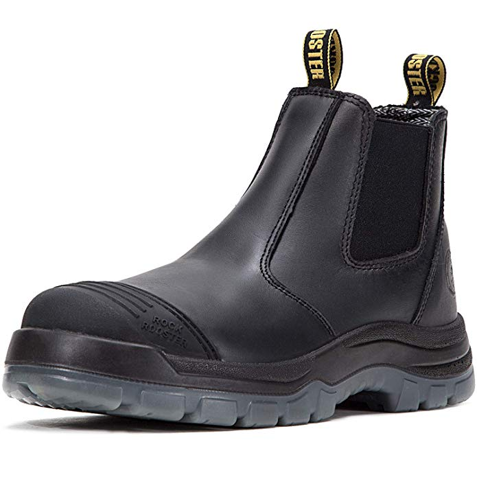 ROCKROOSTER Leather Work Boots for Welders