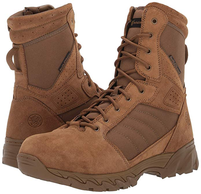 Smith & Wesson Mens Breach 2.0 Tactical Waterproof Side Zip Boots