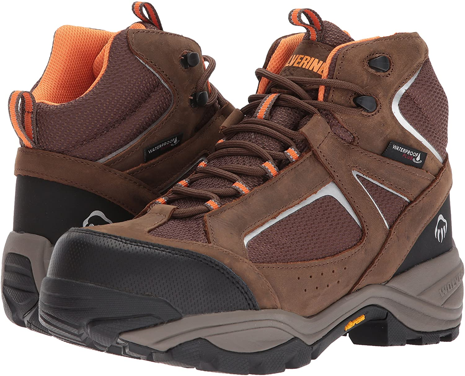 A pair of Wolverine boots will keep you safe during work.